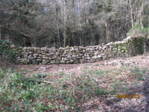Recently repaired dry stone wall